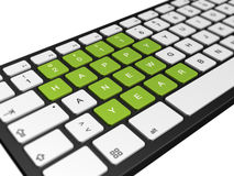 New year 2011 computer keyboard Royalty Free Stock Photo