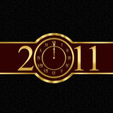 New year 2011 concept with clock. New year 2011 with clock instead number zero royalty free illustration