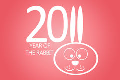 New year 2011 concept with rabbit. New year 2011 with rabbit ears instead number eleven Royalty Free Stock Images