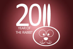 New year 2011 concept with rabbit. New year 2011 with rabbit ears instead number eleven Royalty Free Stock Image