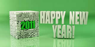 New year 2011. Cube consisting of the numbers Royalty Free Stock Images