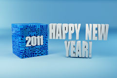 New year 2011. Cube consisting of the numbers Royalty Free Stock Photo