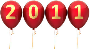 New Year 2011 date balloons (Hi-Res) Royalty Free Stock Photos