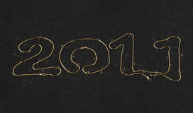 New year 2011 gold chain. New year 2011 made with gold chain Royalty Free Stock Photos