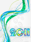 New Year 2011. Greeting card. Abstract New Year - funky graphic design royalty free illustration