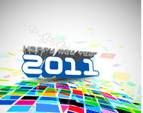 New year 2011 mosaic background. Abstract new year 2011 colorful mosaic design.  Vector illustration Stock Photos