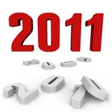 New Year 2011 over the past ones - a 3d image Royalty Free Stock Image
