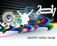 New year 2011 party background. Abstract new year 2011 night party design.  Vector illustration Royalty Free Stock Images
