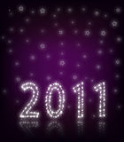 New Year 2011 Purple royalty free stock photos