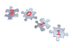 New Year 2011 Puzzle. A computer generated image  of the number 2011 in puzzle Stock Photos