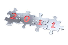 New Year 2011 Puzzle. A computer generated image  of the number 2011 in puzzle Royalty Free Stock Photography