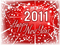 New Year  2011 red background Royalty Free Stock Images