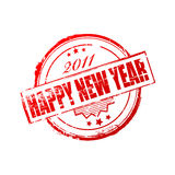 New year 2011 stamp Royalty Free Stock Photo