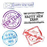 New year 2011 stamps Royalty Free Stock Image