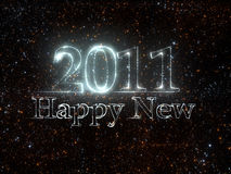 New Year 2011 from stars. Happy New 2011 Year make from stars in space Royalty Free Stock Photos
