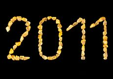 New year 2011 text. Royalty Free Stock Photography