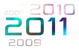 New year 2011 theme. (digits on white background Royalty Free Illustration