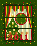 New year 2011 window Royalty Free Stock Image