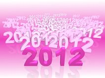 New year 2012. 2012 New year calendar background stock illustration