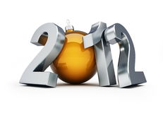 New year 2012. Happy new year 2012 on a white background Royalty Free Stock Image