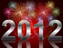 New Year 2012. Illustration of a New Year 2012 Background Stock Photography