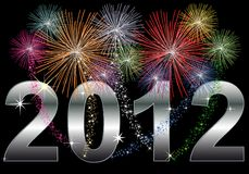 New Year 2012. Illustration of a New Year 2012 Background Stock Images