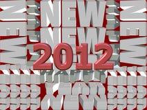 New year 2012. Happy and joyful New Year 2012 Royalty Free Stock Photos