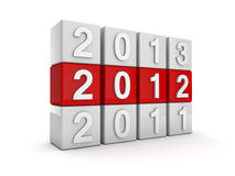 New year 2012. 3D render royalty free illustration