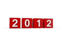 New year 2012. 3D render Stock Illustration