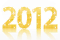 New Year 2012. On a white background Stock Illustration