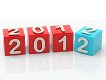 New Year 2012. Computer generated image three dimensional 2012 new year Stock Illustration