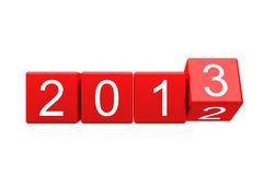 New year 2012-2013 changing. New year 2012-2013 cubes are changing stock illustration