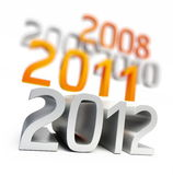 New year 2012. On a white background Royalty Free Stock Photos