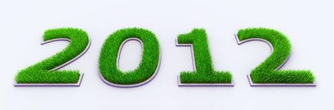 New year 2012. In Grass royalty free illustration