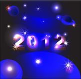 New year 2012. Is coming Stock Image