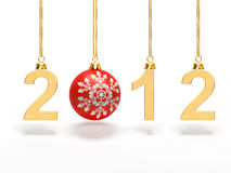 New year 2012. Computer generated image representing the new year 2012 with a Christmas ball Stock Illustration