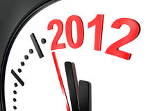 The new year 2012. Computer generated image representing the new year 2012 in a clock Stock Illustration