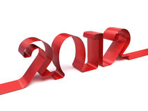 The new year 2012. Very high resolution 3d rendering of the new year 2012 in a ribbon royalty free illustration