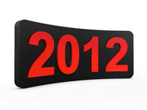New year 2012. 3d render illustration Stock Images