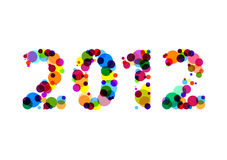 New Year 2012. The year 2012 written in white background Royalty Free Stock Photo