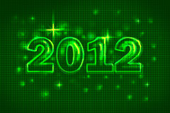New Year 2012. This image is a New Year card 2012 stock illustration