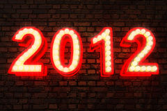 The new year 2012. Very high resolution computer generated image of the new year 2012 Royalty Free Stock Photography