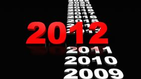 New Year 2012. 3d illustration Royalty Free Stock Photos