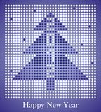 New Year 2012. Holiday 2012 Christmas card of the circles Stock Illustration