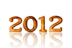 New year 2012. Made from wood text on white background Stock Image