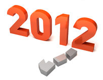 New Year 2012. An illustration of the new year, 2012 Stock Images