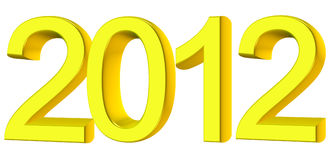 New year 2012. 3D text Stock Photo