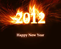 New year 2012. Background with copy space Stock Image