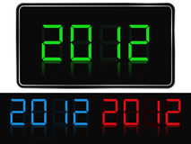 New Year 2012. Digits of new year 2012 Royalty Free Stock Photos