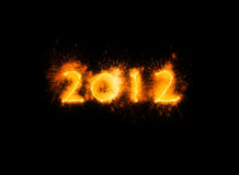 New year 2012. High resolution 3d bwackground of the new year 2012 Royalty Free Stock Image